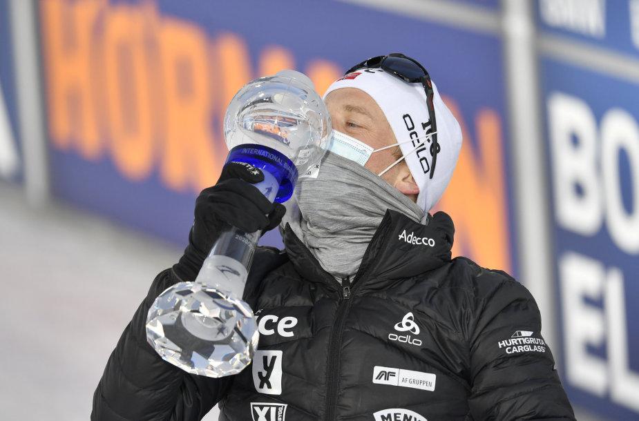 Johannesas Boe trečią kartą laimėjo pasaulio taurę.