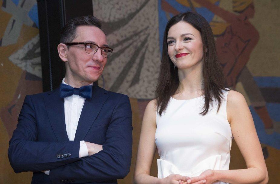 Gerūta Griniūtė ir Andrius Rožickas