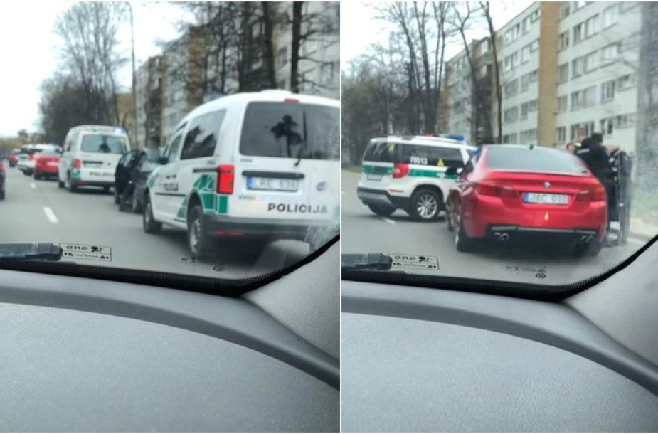 Policijos operacija Vilniuje – vykdytos kratos BMW automobiliuose