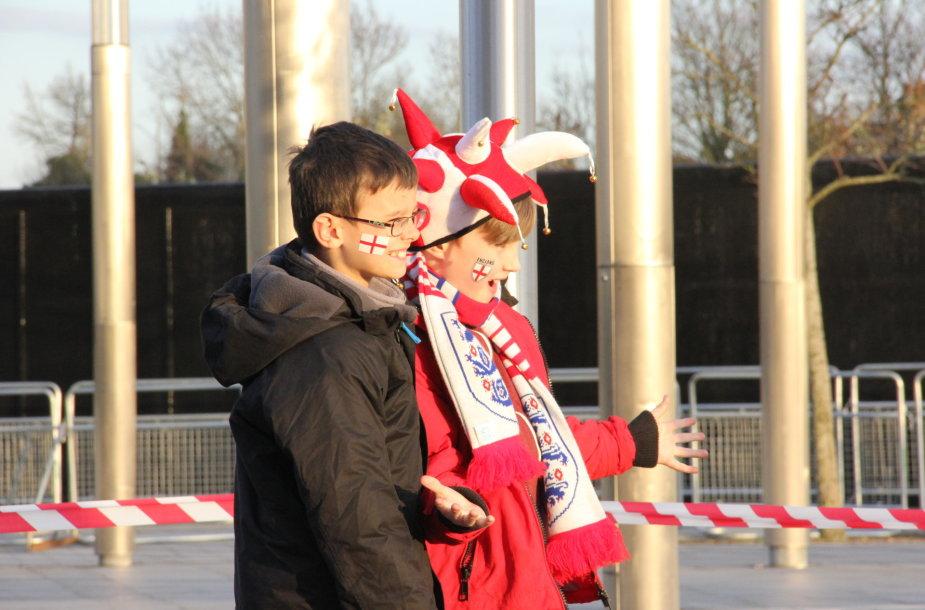 "Lietuvos ir Anglijos futbolo sirgaliai Londone ir ""Wembley"" stadione"