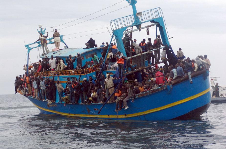 Nelegalūs migrantai iš Afrikos