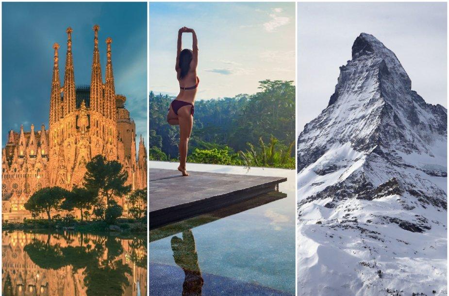 Kur nekeliauti 2020 m.: aplenkite Balį, Barseloną ir Šveicarijos kalną