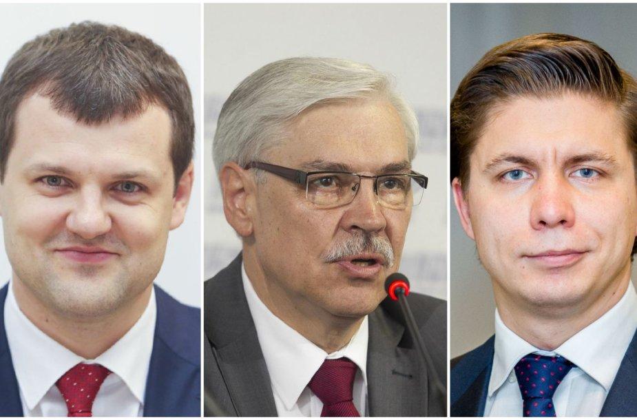 Gintautas Paluckas, Zigmantas Balčytis ir Mindaugas Sinkevičius