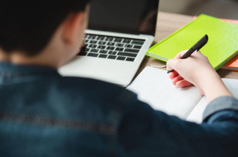 Vaikas mokosi namuose