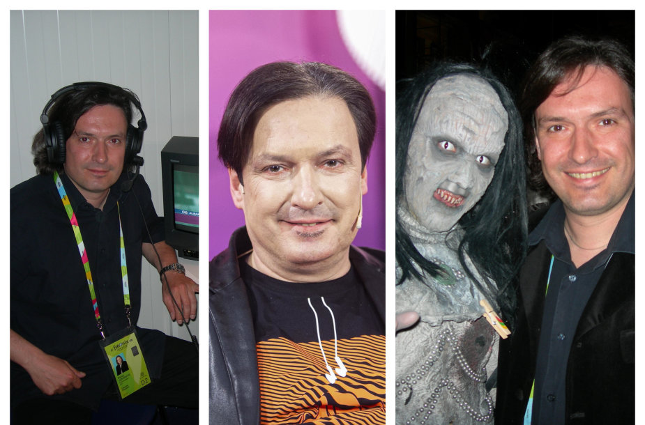 """Darius Užkuraitis ir grupės """"Lordi"""" narys"""