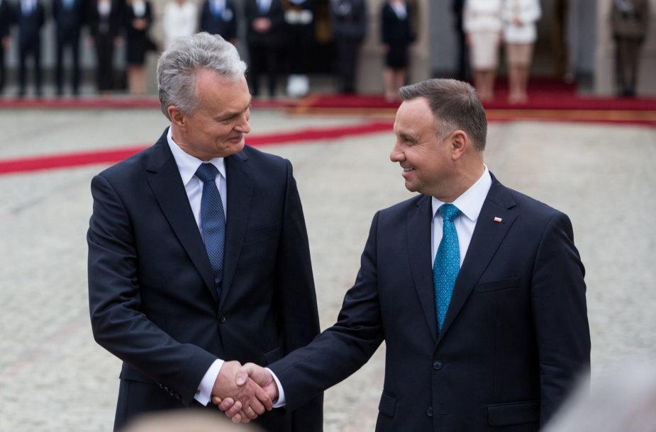 Gitanas Nausėda ir Andrzejus Duda