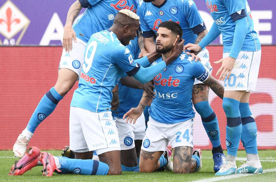 """""""Napoli"""" šventė svarbią pergalę Florencijoje."""