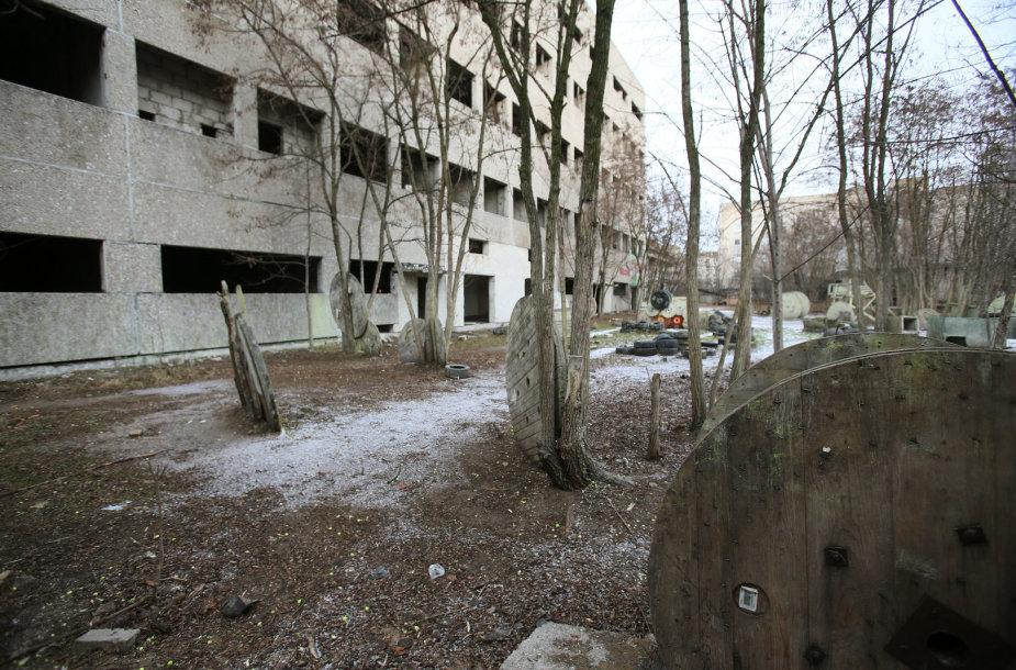 Apleistas pastatas Kauno centre