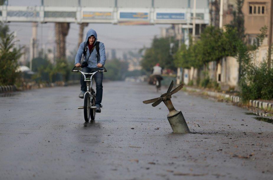 Dūmos miestas Sirijoje