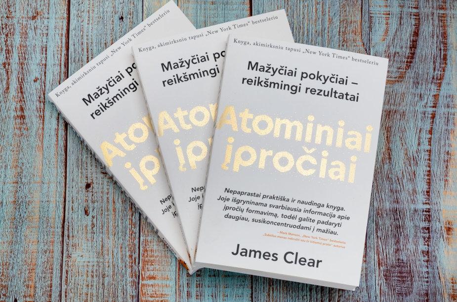 """James Clear """"Atominiai įpročiai""""."""
