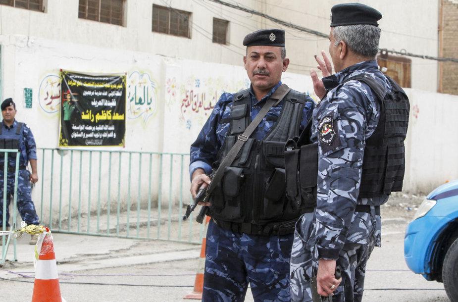 Irako policininkai