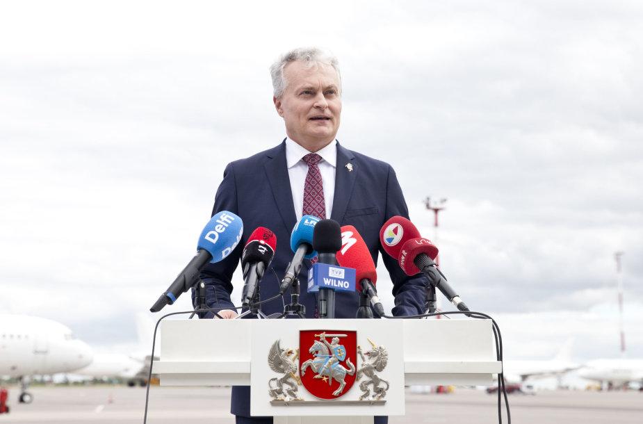 Grįžęs iš Briuselio G.Nausėda komentuoja apie EVT priimtus sprendimus