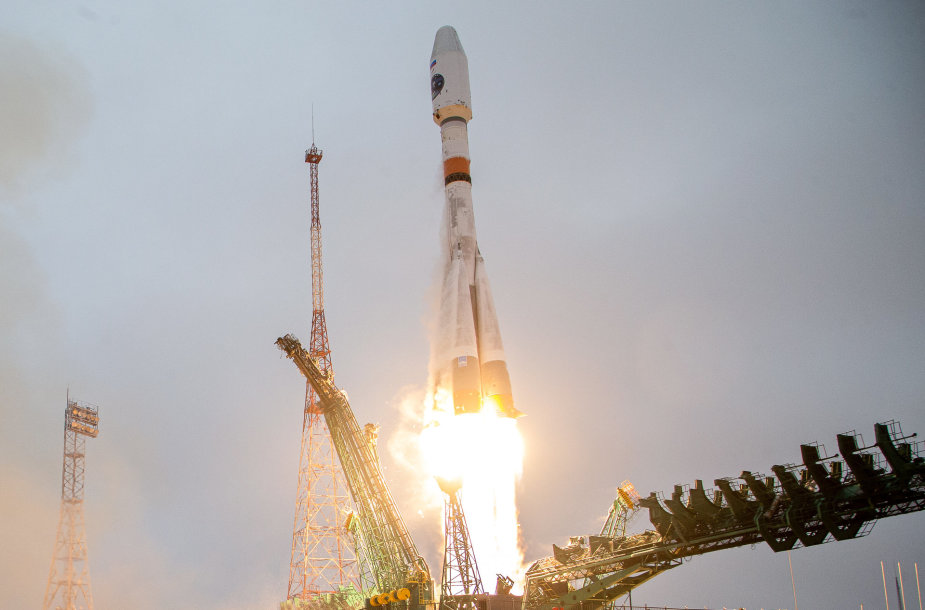 "Raketos ""Sojuz"" startas"