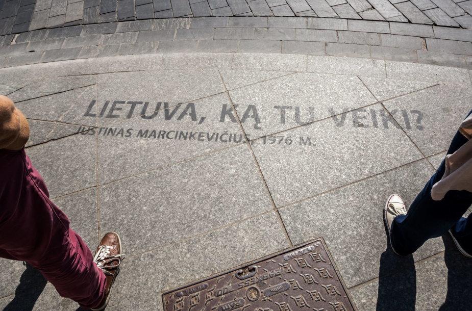 Per savaitgalį citatomis išmargintos Vilniaus erdvės
