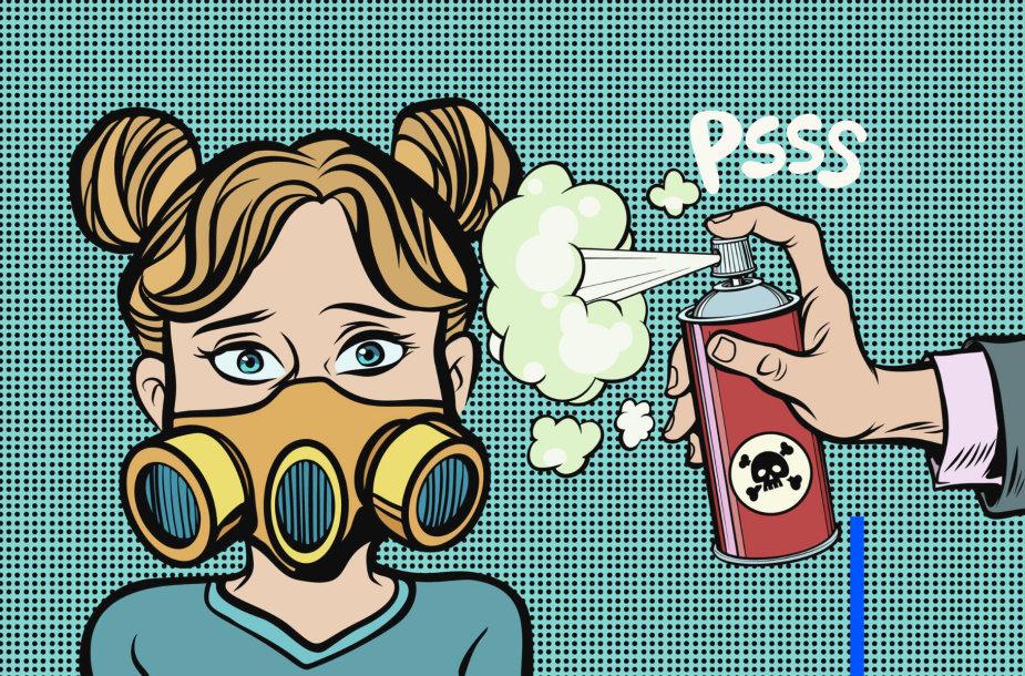 Apsauga nuo keiksmažodžių. Karikatūra