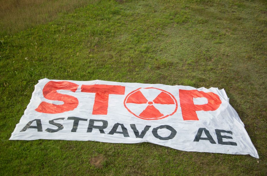 Astravo atominė elektrinė matosi nuo Aukštojo kalno