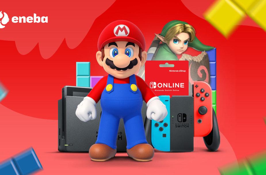 """""""ENEBA"""" pristato: turiningos vasaros atostogos su """"Nintendo"""""""