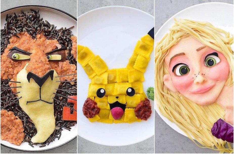 Iš maisto produktų sukurti filmukų personažai