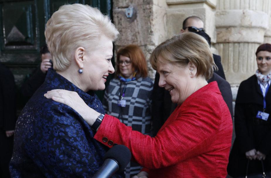 A.Merkel ir D.Grybauskaitė