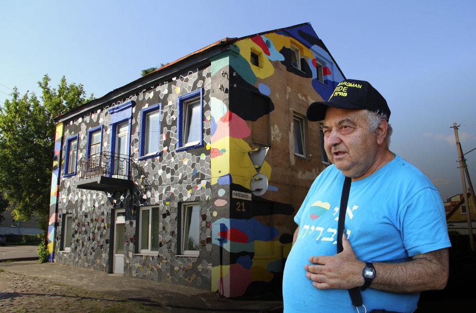 Chaimas Bargmanas ir Kauno geto žydų policijos skyriaus pastatas