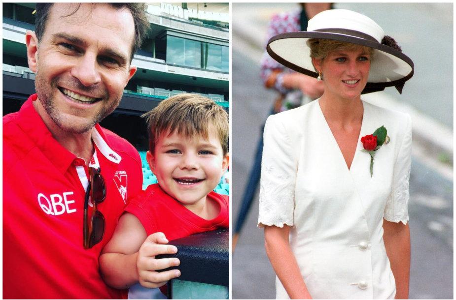 Davido Campbello sūnus Billy ir princesė Diana