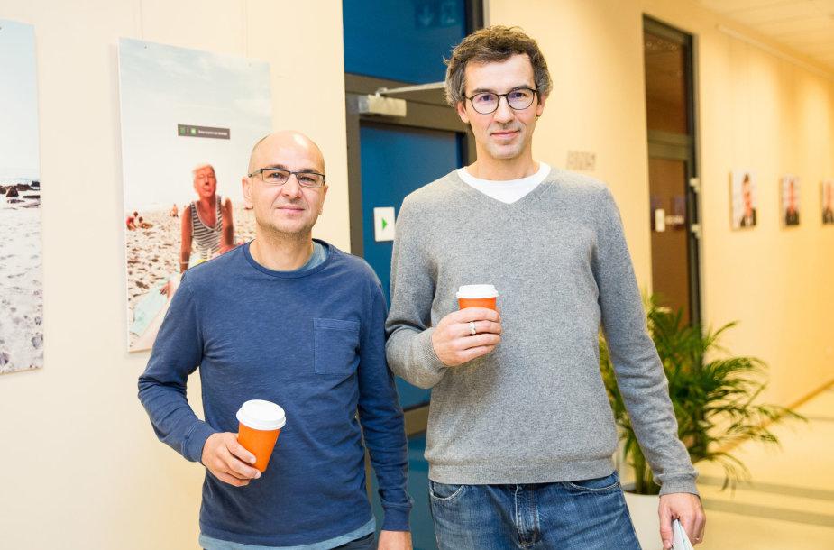 """15min studijoje – """"Coffee Inn"""" įkūrėjai Nidas Kiuberis ir Vytenis Kurapka"""