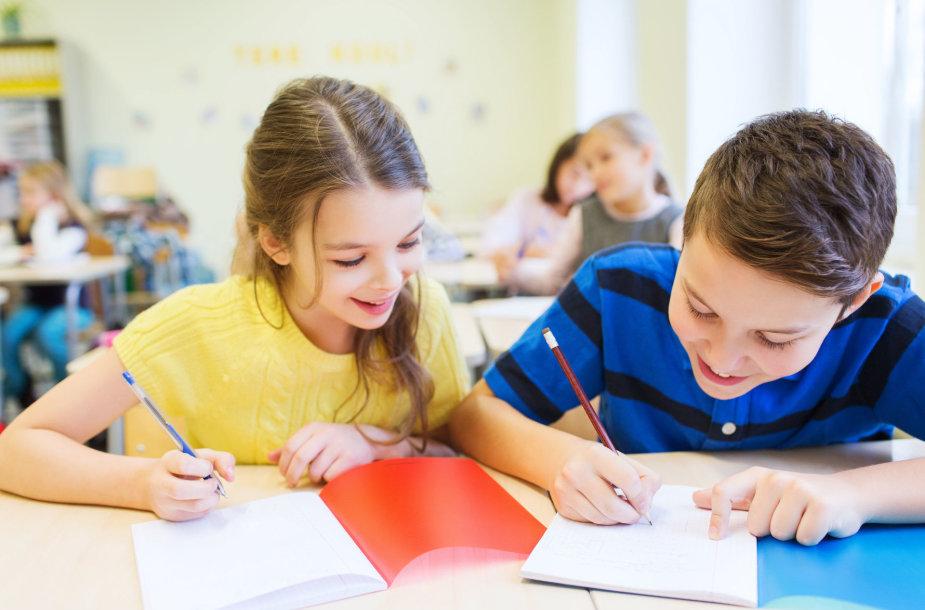 Mokiniai klasėje