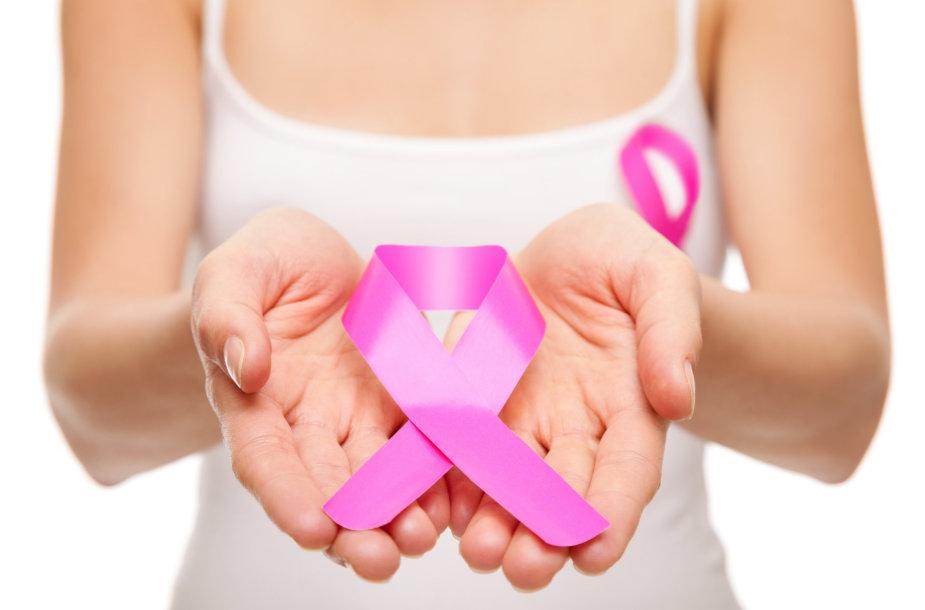 Krūties vėžio simbolis – rožinis kaspinas