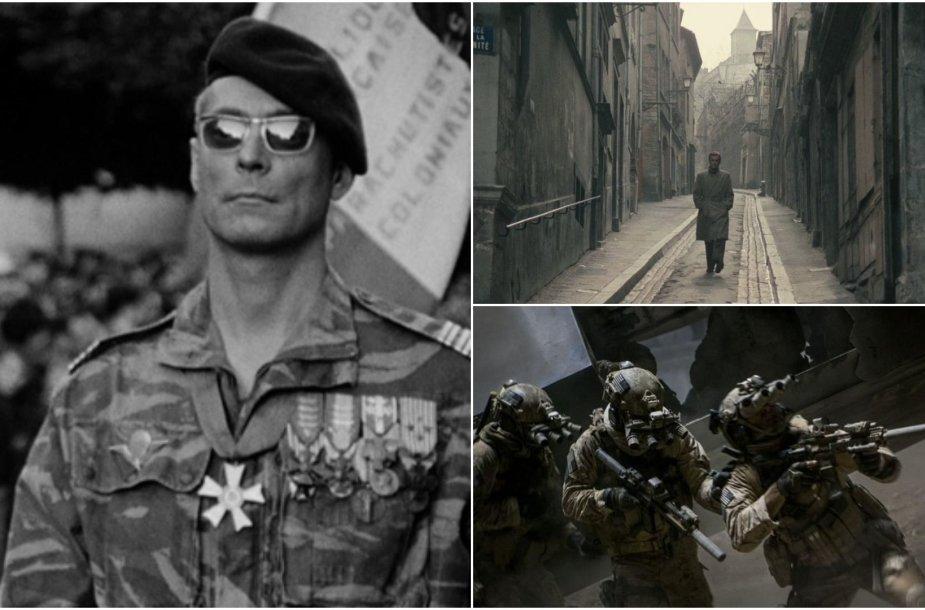 """Kadrai iš filmų """"The Battle of Algiers"""", """"Army of Shadows"""", """"Zero Dark Thirty"""""""
