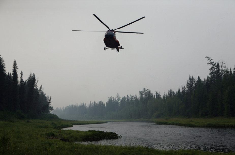 Asociatyvinė iliustracija: sraigtasparnis Mi-8