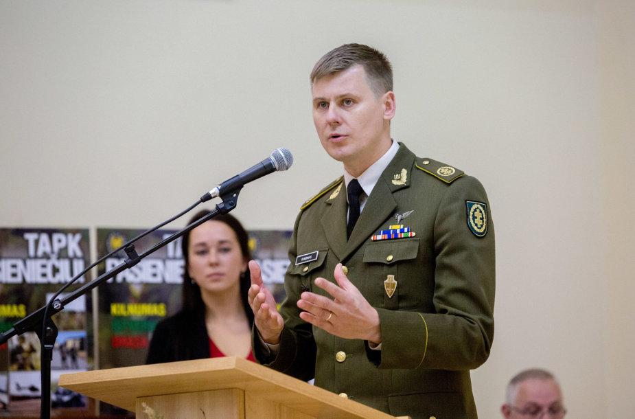 Lietuvos šaulių sąjungos (LŠS) vadas  Liudas Gumbinas