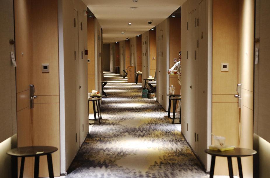 Karantinas viešbutyje Šanchajuje