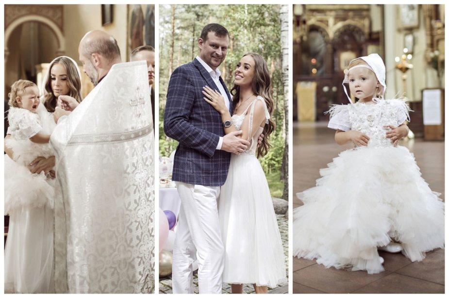 Viktorijos Siegel ir Danieliaus Bunkaus dukters Nicole krikštynų akimirkos