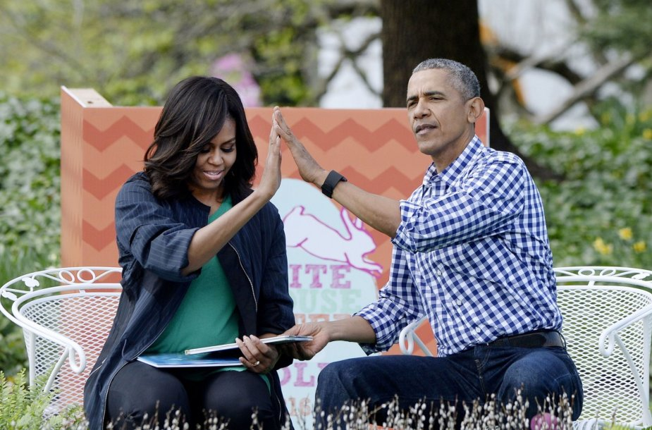 Barackas ir MichelleObamos