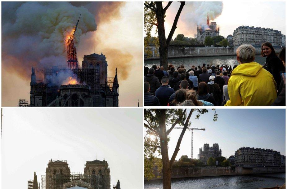 Paryžiaus Dievo Motinos katedra: 2019 m. gaisras ir 2020 m. balandis