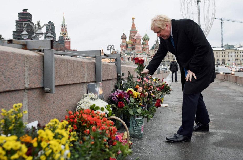 Vieta, kur buvo nužudytas opozicijos veikėjas Borisas Nemcovas