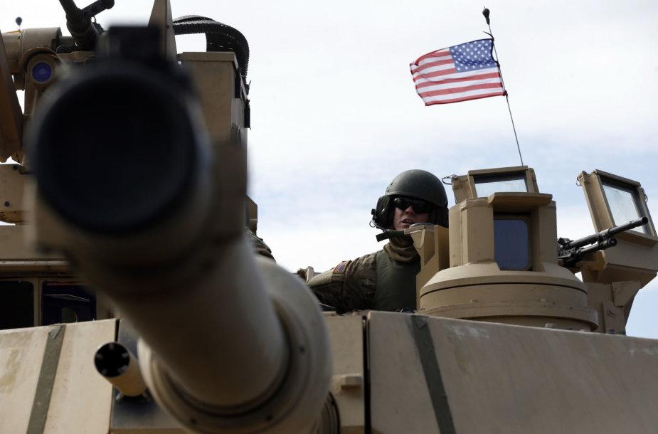 "JAV tankas ""M1A2 Abrams"" Lietuvoje"