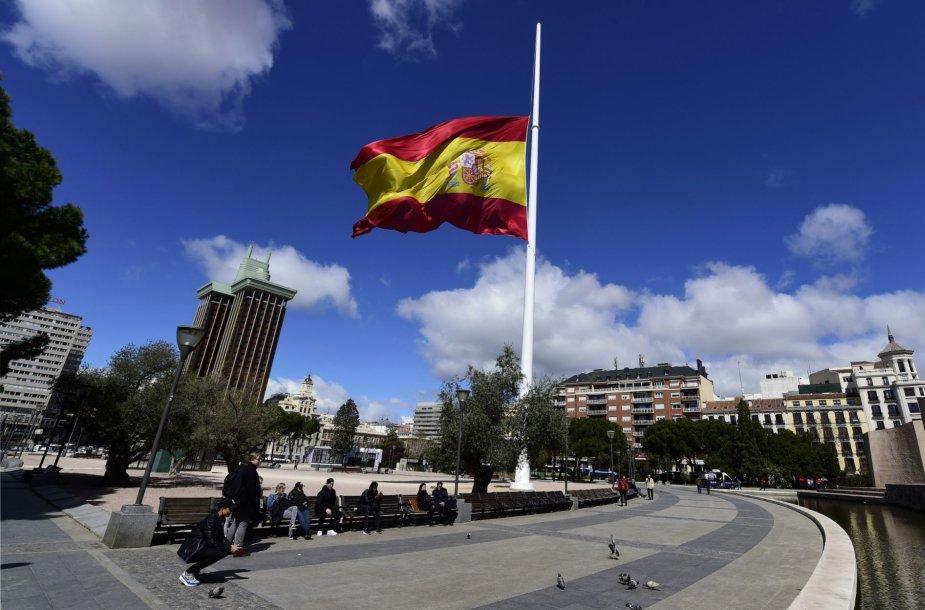 Ispanijos vėliava Madride