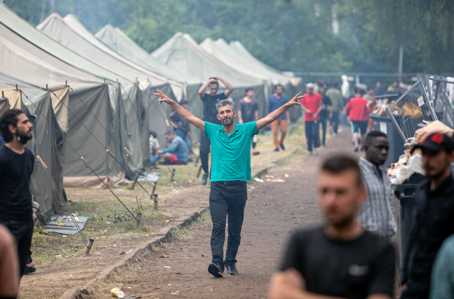 Migrantų kasdienybė Rūdninkų poligone