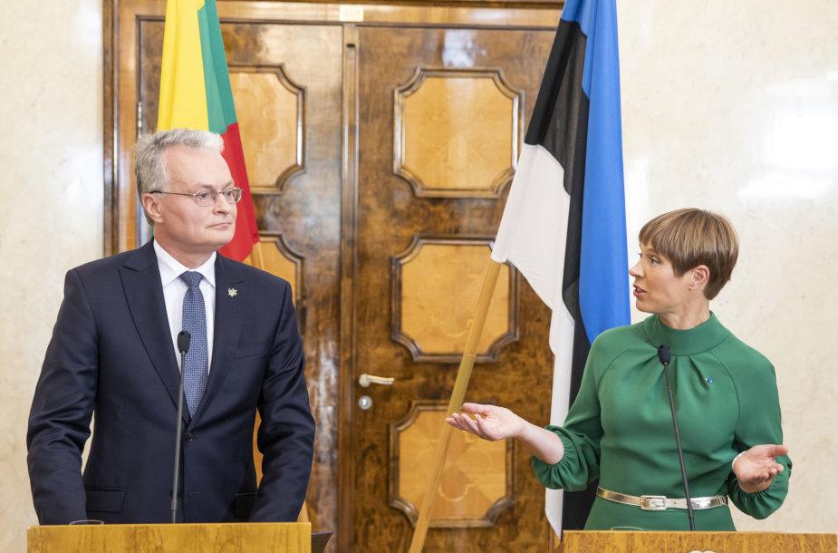 Prezidento Gitano Nausėdos ir Estijos prezidentės Kersti Kaljulaid spaudos konferencija