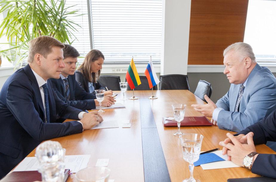 Remigijaus Šimašiaus ir Rusijos ambasadoriaus Aleksandro Udalcovo susitikimas