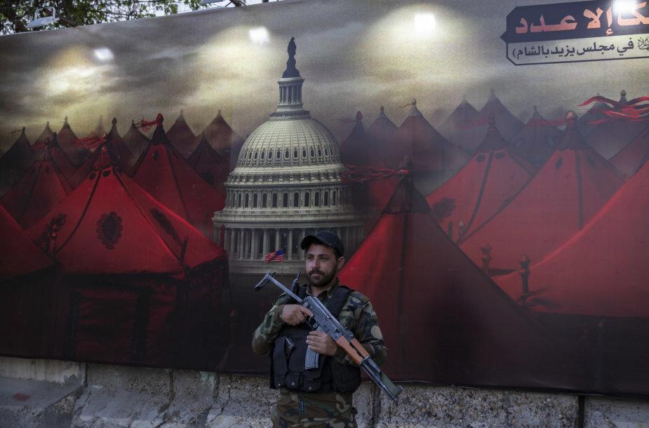 Rinkiminis plakatas Irake