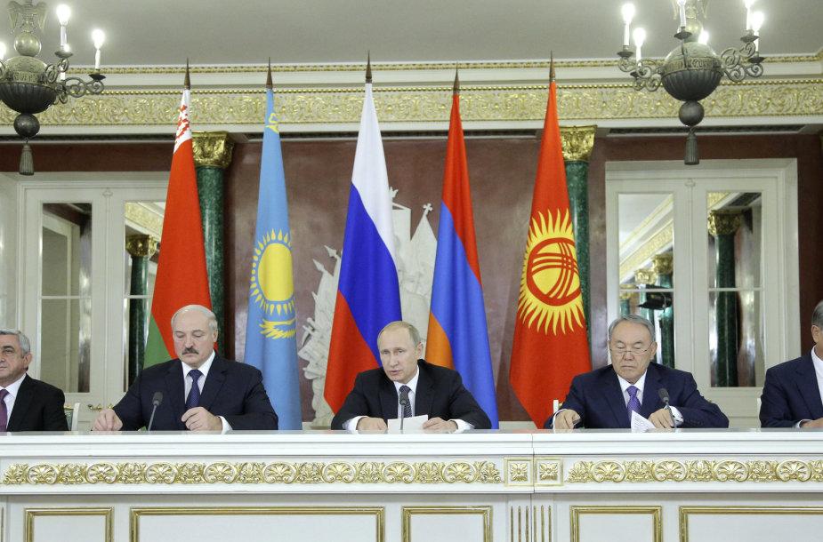 Armėnijos, Baltarusijos, Rusijos, Kazachstano ir Kirgizijos vadovai Maskvoje