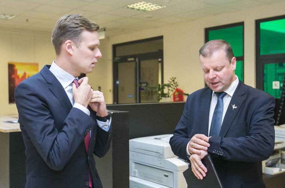 15min debatuose – Gabrielius Landsbergis ir Saulius Skvernelis.
