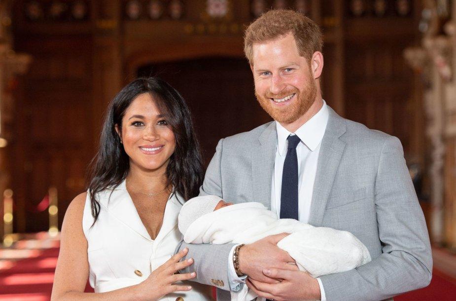Meghan Markle ir princas Harry su pirmagimiu Archie