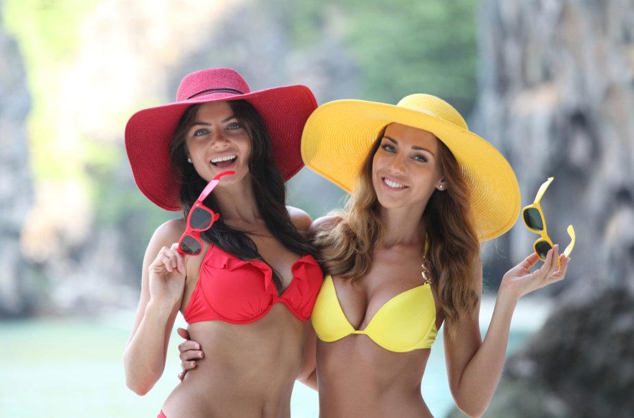 Moterys vilki maudymosi kostiumėlius