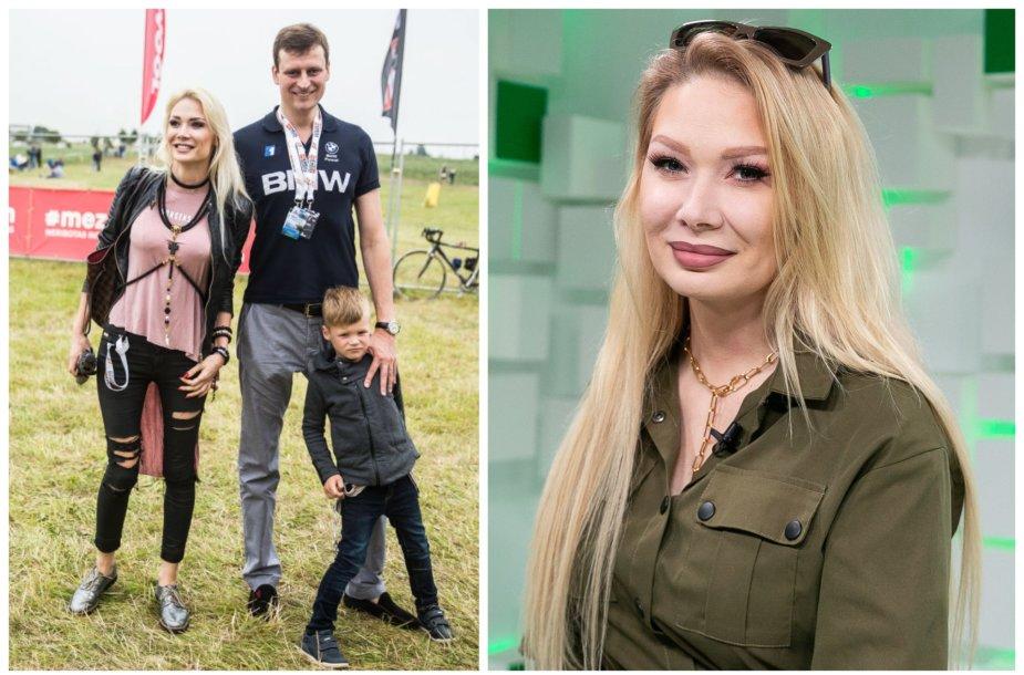 Natalija Bunkė ir Danielius Bunkus su sūnumi Kristupu