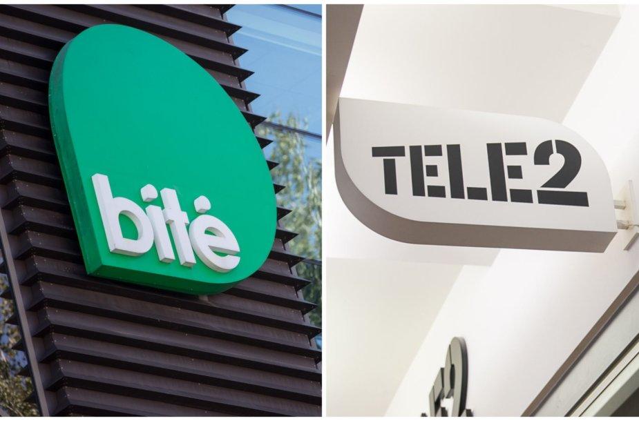 """Mobiliojo ryšio operatoriai """"Bitė"""" ir TELE2"""