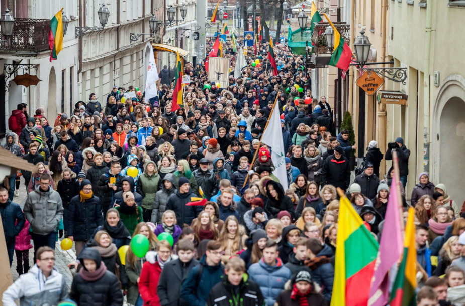 Vasario 16-osios eisena Vilniuje