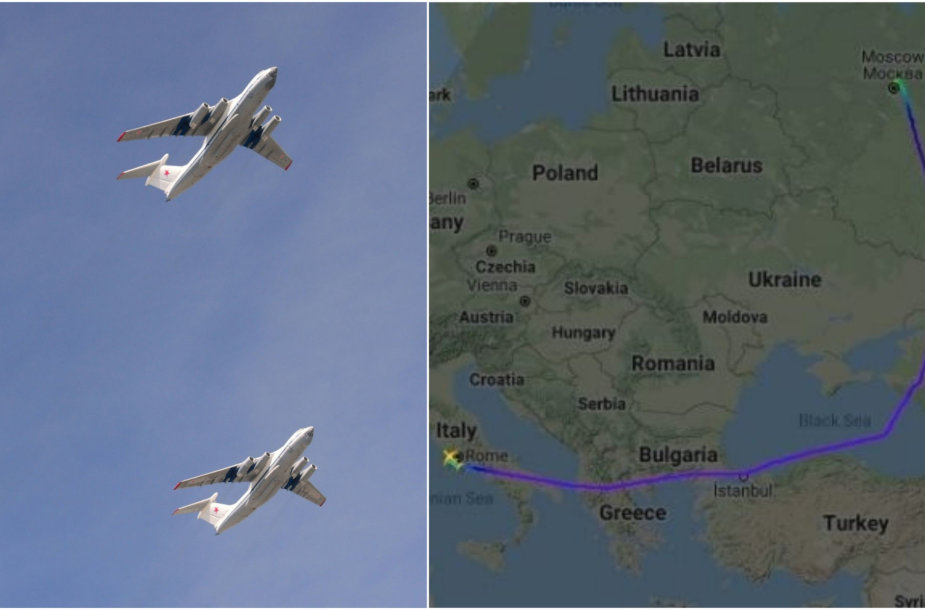 """Feisbuke skelbiami klaidinantys pranešimai, neva Lenkija trukdė Rusijos """"IL-76"""" lėktuvams kirsti šalies oro erdvę"""